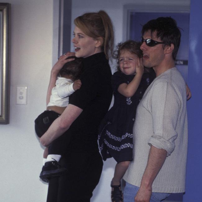 טום קרוז, ניקול קידמן וילדיהם קונור ואיזבלה  (צילום: Getty Images)