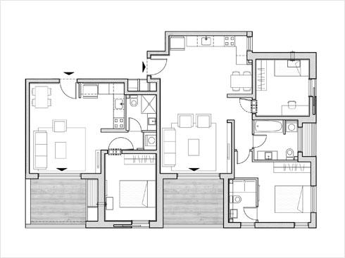 תוכנית דירה (תוכנית: מילבאואר אדריכלים)