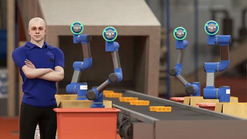 הרובוט התעשייתי ''קובי''. הגודל והמחוות אנושיות (עיצוב: מיכל לשצ'ינסקי)