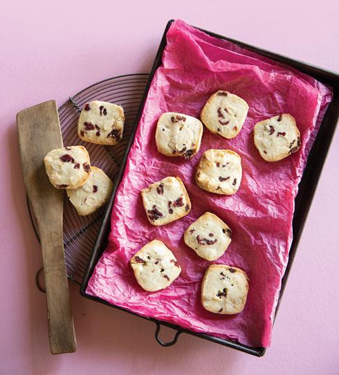 עוגיות משובצות בחמוציות ושקדים  (צילום: דני לרנר, סגנון: פסי ברניצקי)