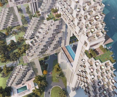 קורונה? מבחינתו, הוא תמיד תכנן מרפסות, טראסות ופארקים שאפשר להתאוורר בהם (courtesy: Safdie Architects)