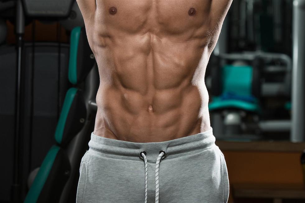 בטן חטובה ושרירית ()