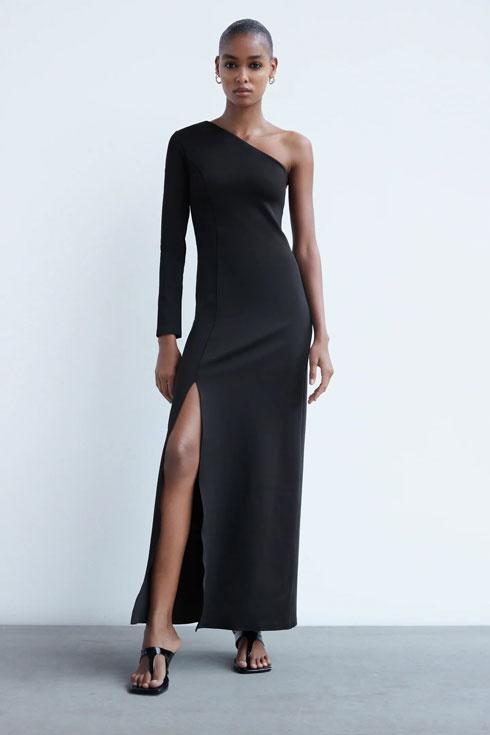 שמלת מקסי א-סימטרית, 349 שקל, זארה (צילום: מתוך zara.com)