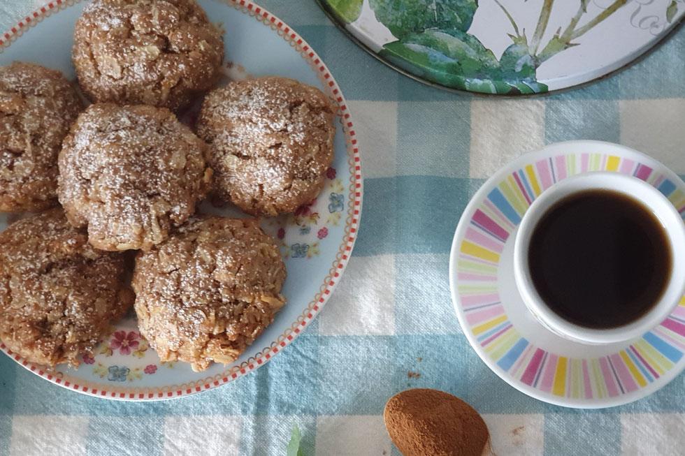דברים טובים מגיעים בחבילות קטנות: עוגיות שיבולת שועל עם תפוח, קינמון והל (צילום: מירי צדוק)