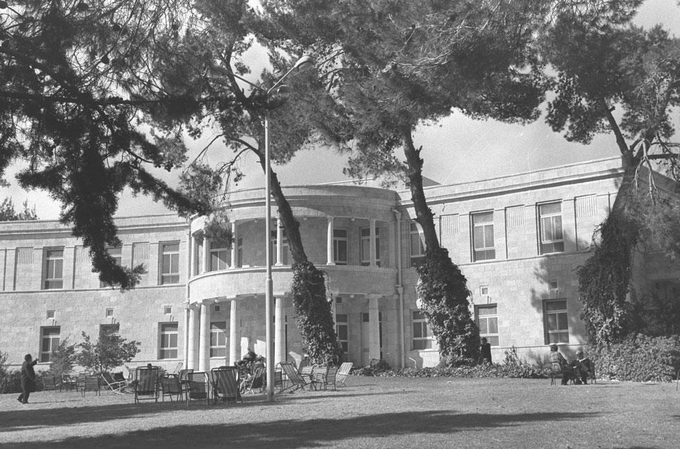 """האדריכל יוסף ברלין הושפע מהסגנון הניאו-קלאסי, והדמיון לבית הלבן בוושינגטון אינו מקרי (צילום: פריץ כהן , לע""""מ)"""