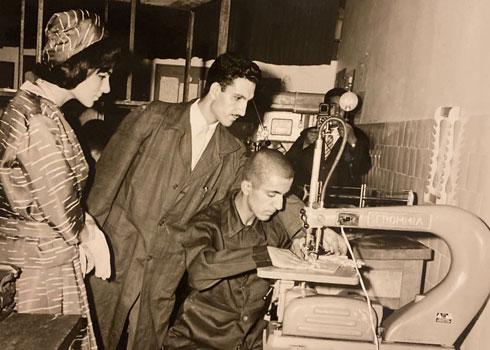 עם פארה דיבה, אשת השאה, בשנות ה-60 (צילום: באדיבות עומר כנעני)