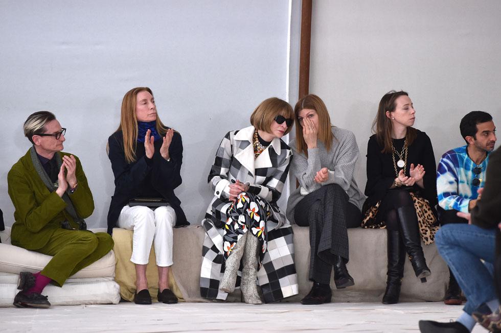 עובדים לשעבר מותחים כעת ביקורת על העורכת הכל-יכולה. ווינטור בתצוגה האופנה של מארני, 2020 (צילום: Tullio M. Puglia/GettyimagesIL)