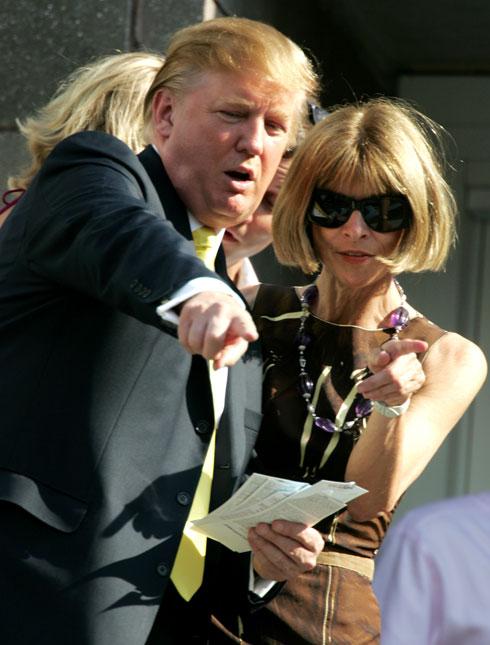 ווינטור עם דונלד טראמפ ב-2005 (צילום: AP)