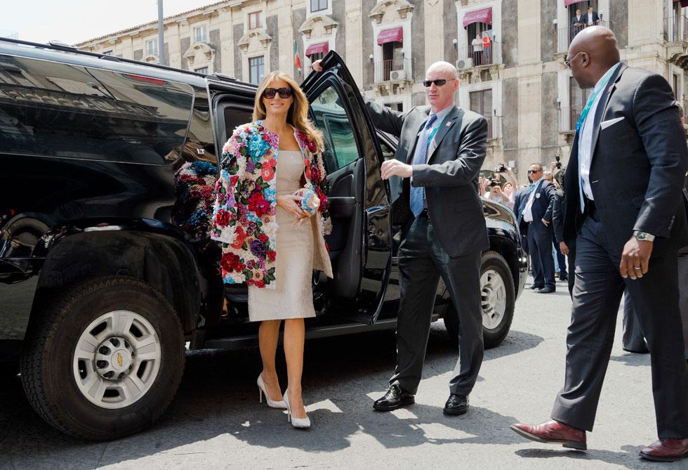אף גברת ראשונה לפניה לא התלבשה כך (צילום: AP)