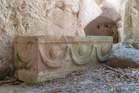 135 ארונות קבורה. בית שערים  (צילום: Shutterstock)