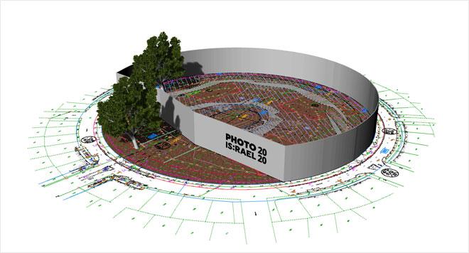 הדמיית התערוכה בכיכר המדינה בשבוע הבא (הדמיה: אוהד בנית)