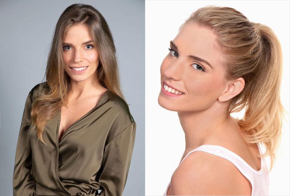 מצא את ההבדלים. רונה נאמן כמועמדת בתחרות מלכת היופי 2009 (מימין) וכיום  (צילום: ששון משה, נוי דקל)