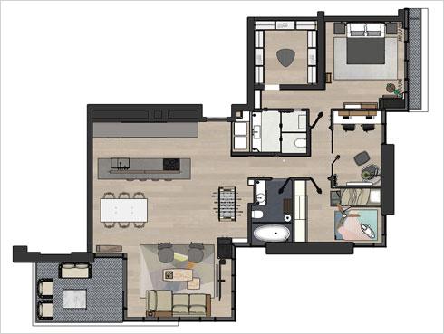 תוכנית הדירה (תוכנית: אלברט אסקולה)