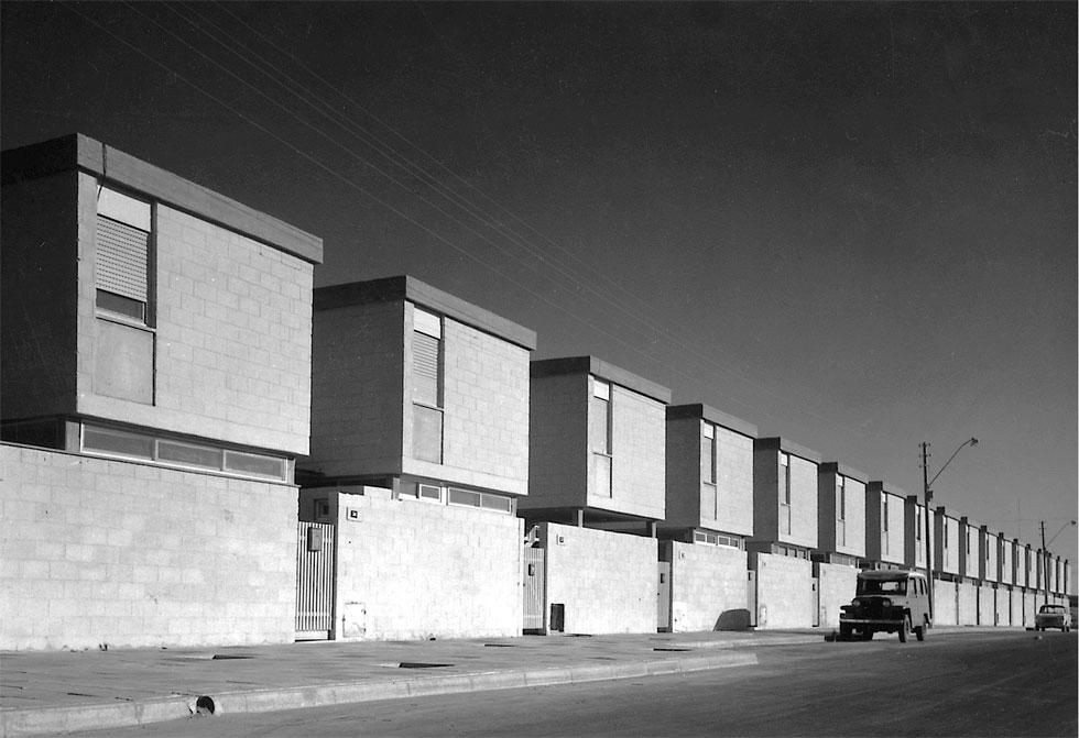 קוטג'ים בשיכון לדוגמה (שכונה ה') בבאר שבע (צילום: באדיבות ארכיון אדריכלות ישראל, תל אביב)