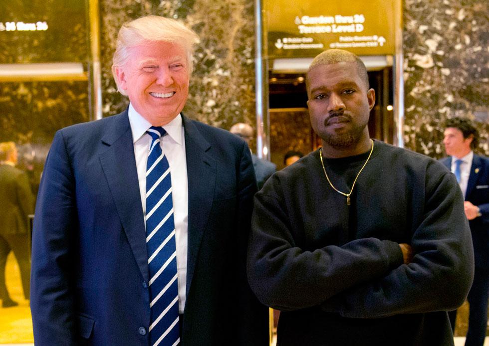 """ווסט עם טראמפ, 2016. """"אני חושב בתלת-ממד, בצבעים מלאים, לא בקווים של שחור ולבן"""" (צילום: AP)"""