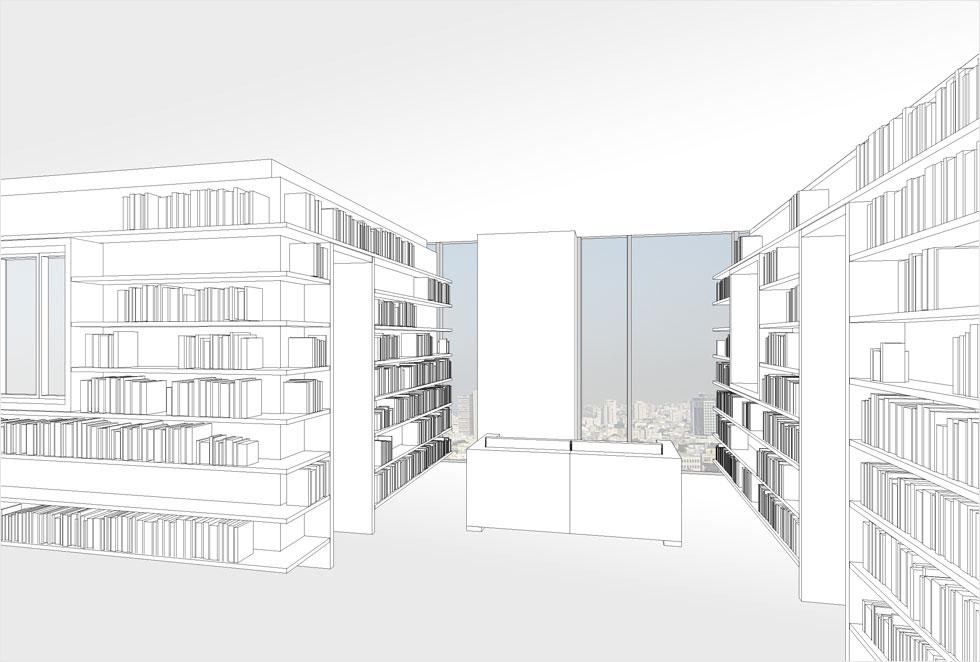 טולה עמיר מתבססת על הרעיון של האדריכל היפני המעוטר שיגרו באן, שתכנן דירה כזו למשפחה בת 5 נפשות (ראו סרטון בכתבה) (הדמיה: אדריכלית הילה רק)