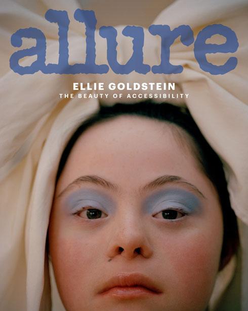"""""""הדבר הכי טוב בדוגמנות הוא האפשרות להציג את עצמי לכולם"""". גולדשטיין על שער Allure (צילום: Vicki King)"""