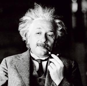 איינשטיין. גם פה וגם שם | צילום: איי פי