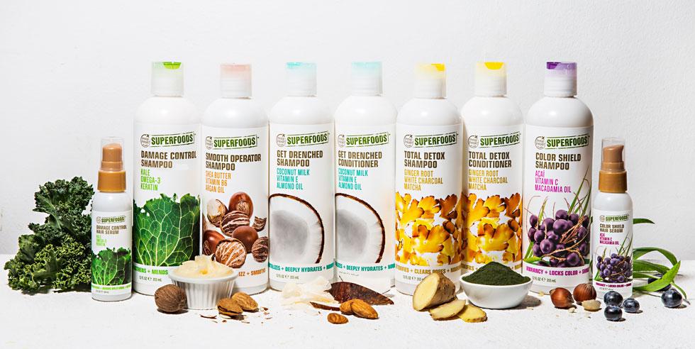 מותג שיער קליפורני שרותם את מזונות העל לשירות הלוק שלך. SUPERFOODS FOR HAIR (צילום: קיס אנד טל)