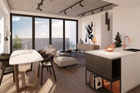 200 יחידות של מנורות תקרה, שהוזמנו השנה ל-200 דירות בפרויקט מגורים חדש במלבורן (צילום: באדיבות סטודיו אילנאל)