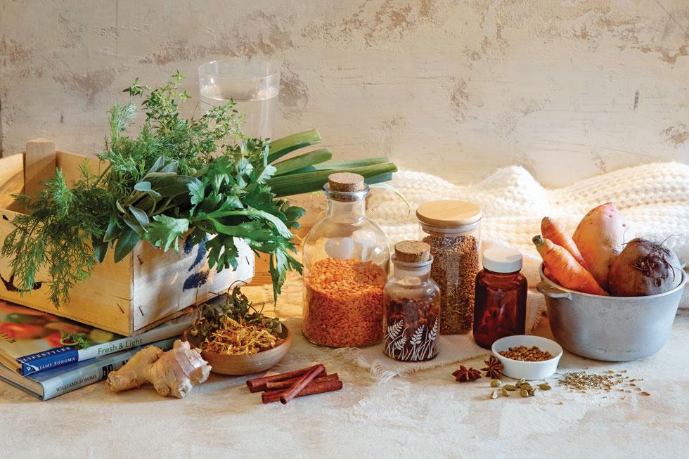 ארגז הכלים הטבעי למחלימים ממחלות ויראליות - כולל קורונה  (צילום: יוסי סליס סגנון: נטשה חיימוביץ)