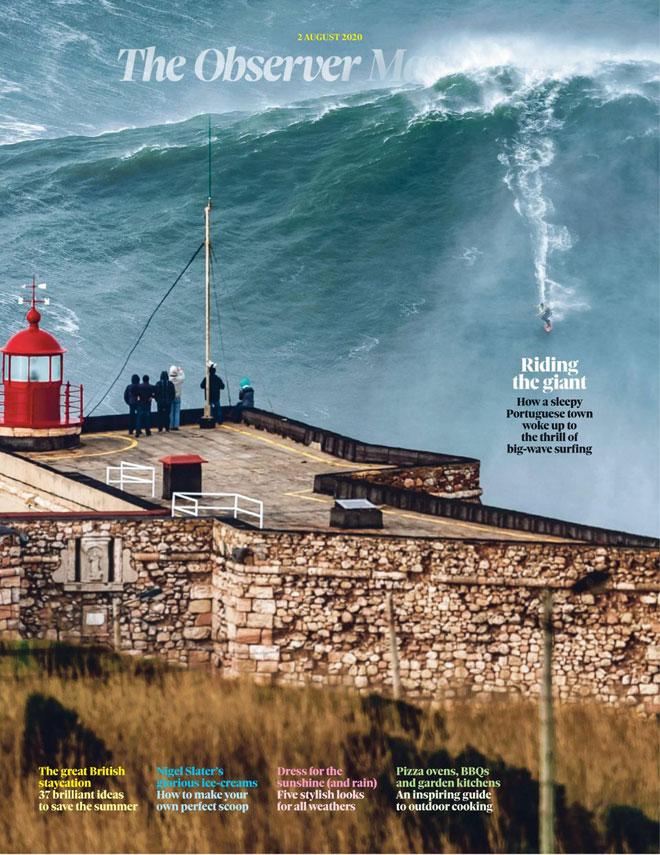 ''איך עיירה מנומנמת בפורטוגל התעוררה לריגוש שבגלישת גלים''. האובזרבר