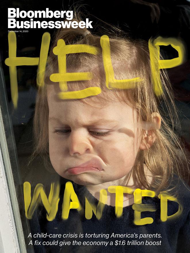 ''בלומברג ביזנסוויק'' בצילום עם כיתוב שמסכם את מצוקת הילדים