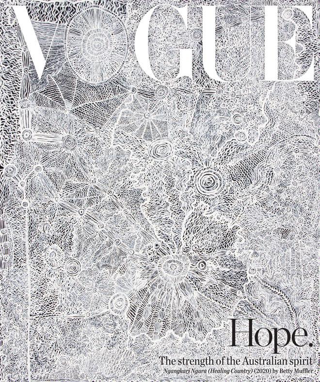 בשיתוף פעולה של ווג אוסטרליה עם National Gallery of Australia יצרה בטי מאפלר, אמנית ומרפאה רוחנית ממוצא אבוריג'יני, דימוי של תקווה וחוזקה של הרוח האוסטרלית, חלק מיצירה ענקית במכחול דקיק, המורכבת מאינספור קשרים