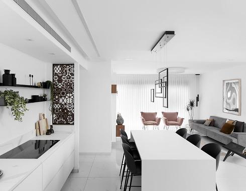 """""""האלמנט הכי חשוב במטבח נקי ומינימליסטי הוא האחסון"""". עיצוב: לירז בוקעי, מטבחי רגבה.  (צילום: שירן כרמל)"""