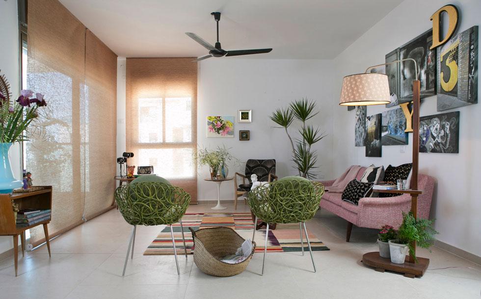 האם סלון בדירת קבלן חדשה תמיד צריך להיראות אותו הדבר? לחצו וצפו ב-4 סגנונות שונים לסלון אחד (צילום: שירן כרמל)