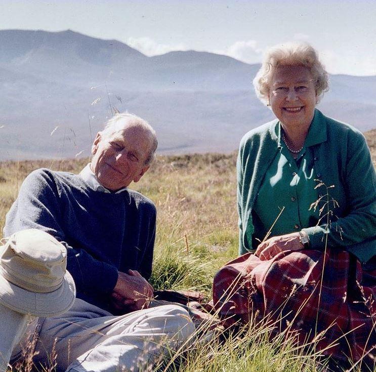 המלכה אליזבת והנסיך פיליפ (צילום: אינסטגרם)