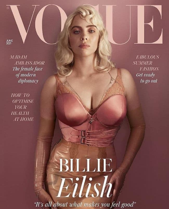 """אחרי המהפך. אייליש על שער """"ווג בריטניה"""" (צילום: Vogue)"""