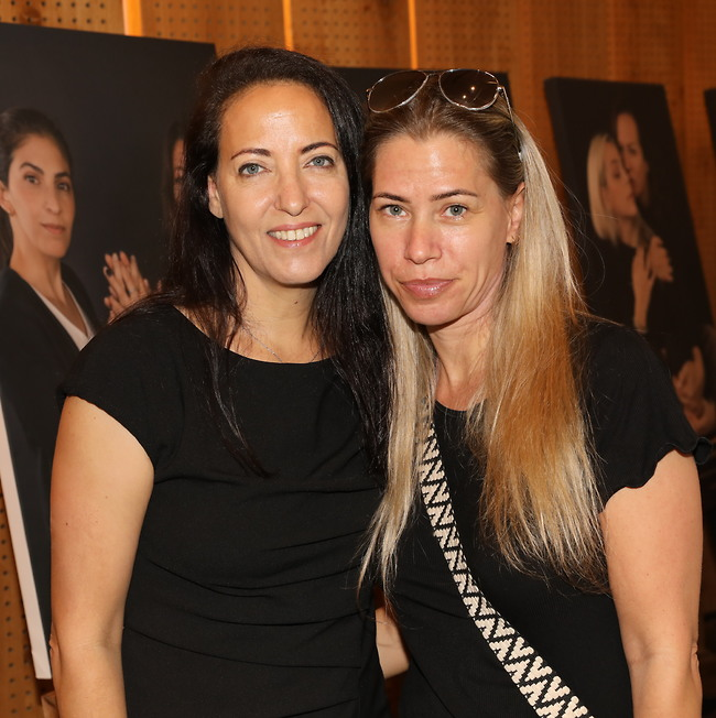 מעוררות השראה. ליהיא לפיד ואחותה אילאיל קרן (צילום: רפי דלויה)