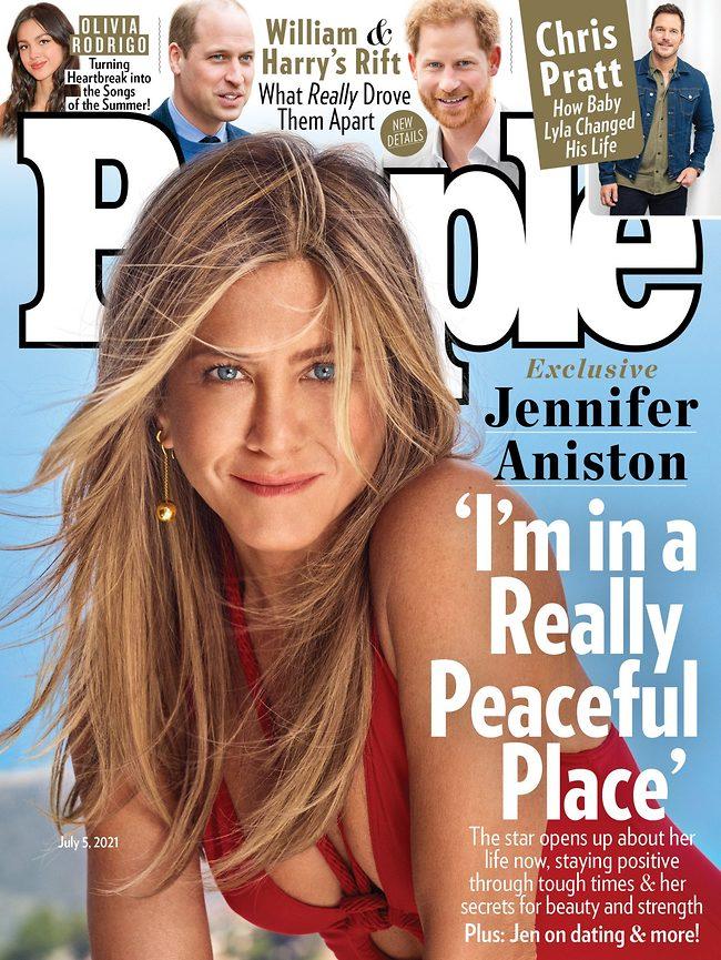 ג'ניפר אניסטון על שער מגזין People (צילום: אינסטגרם)