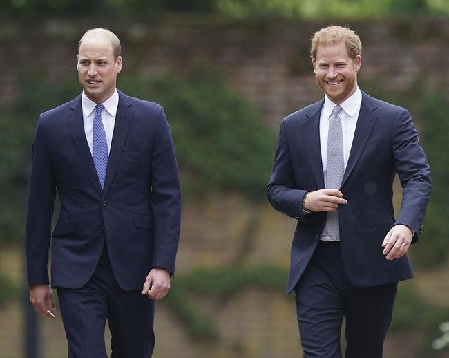 בדרך לפיוס? הנסיכים וויליאם והארי (צילום: Ap)