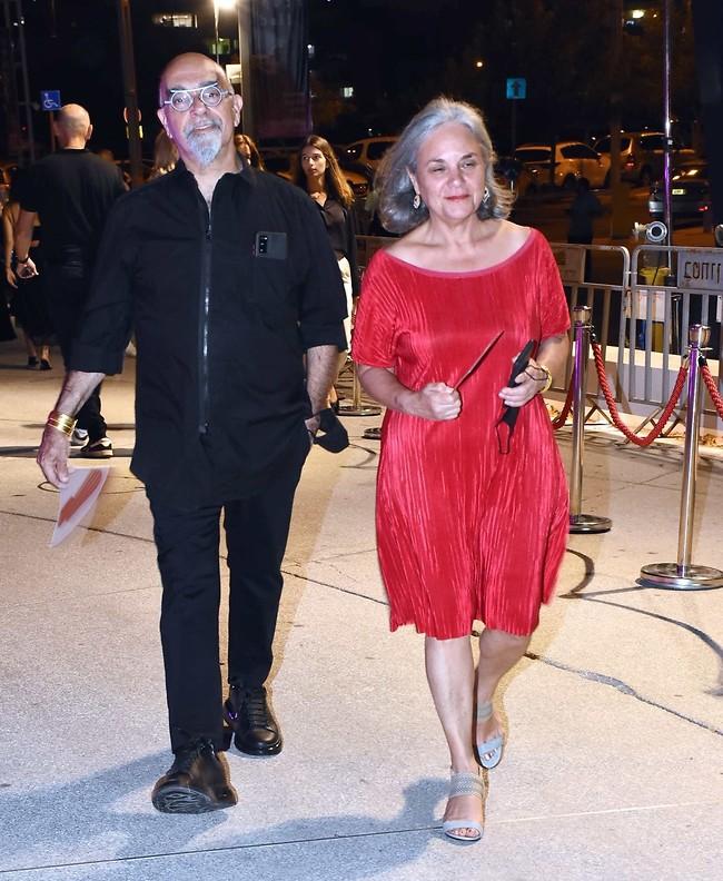 מלא סטייל. ישראל אהרוני ואשתו גיגי (צילום: אמיר מאירי)