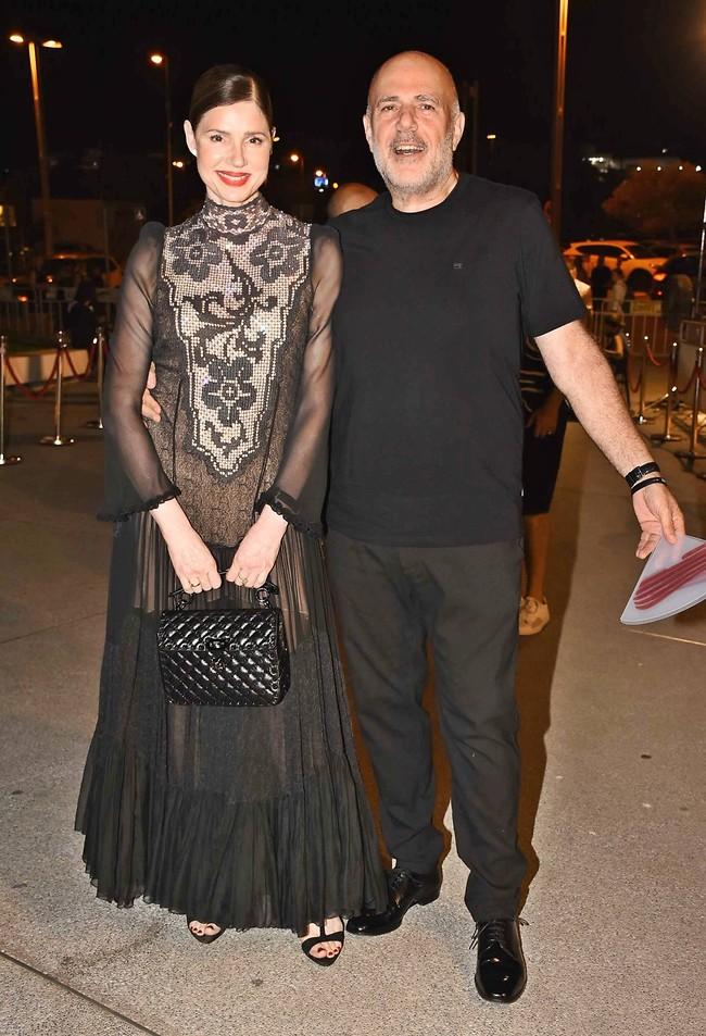 שחור מנצח. רונית יודקביץ' ואלי ברק (צילום: אמיר מאירי)