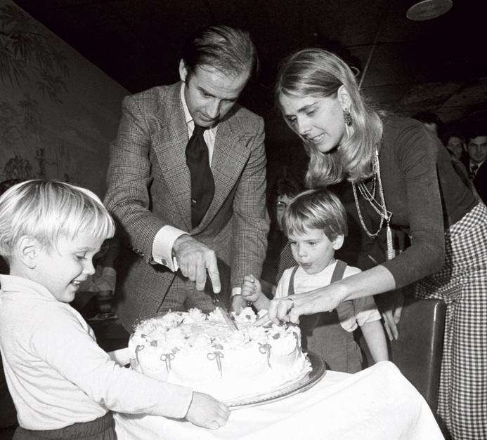 משפחת ביידן הצעירה לפני התאונה | צילום: גטי אימג'ס