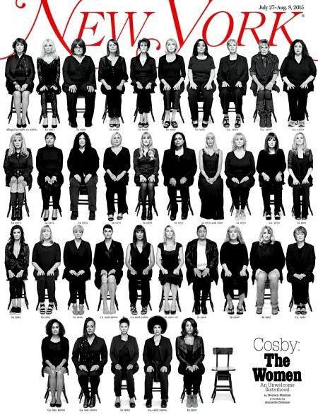 35 נשים שהתלוננו על קוסבי, על שער ה'ניו־יורק' מגזין לפני שנתיים בדיוק