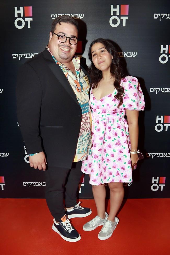 אז מתי אמרנו שהחתונה? אוראל צברי והארוסה סיוון (צילום: ענת מוסברג)