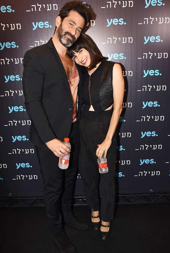 """כוכבי הסדרה """"מעילה"""". דאנה איבגי ויהודה לוי (צילום: אמיר מאירי)"""
