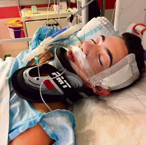 ניתוח חירום בראש. לידג'י בבית החולים אחרי התאונה | צילום: אלבום משפחתי
