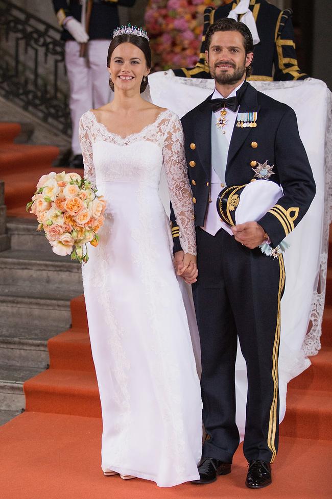 חתן וכלה. הנסיך קרל פיליפ והנסיכה סופיה (צילום: Gettyimage)