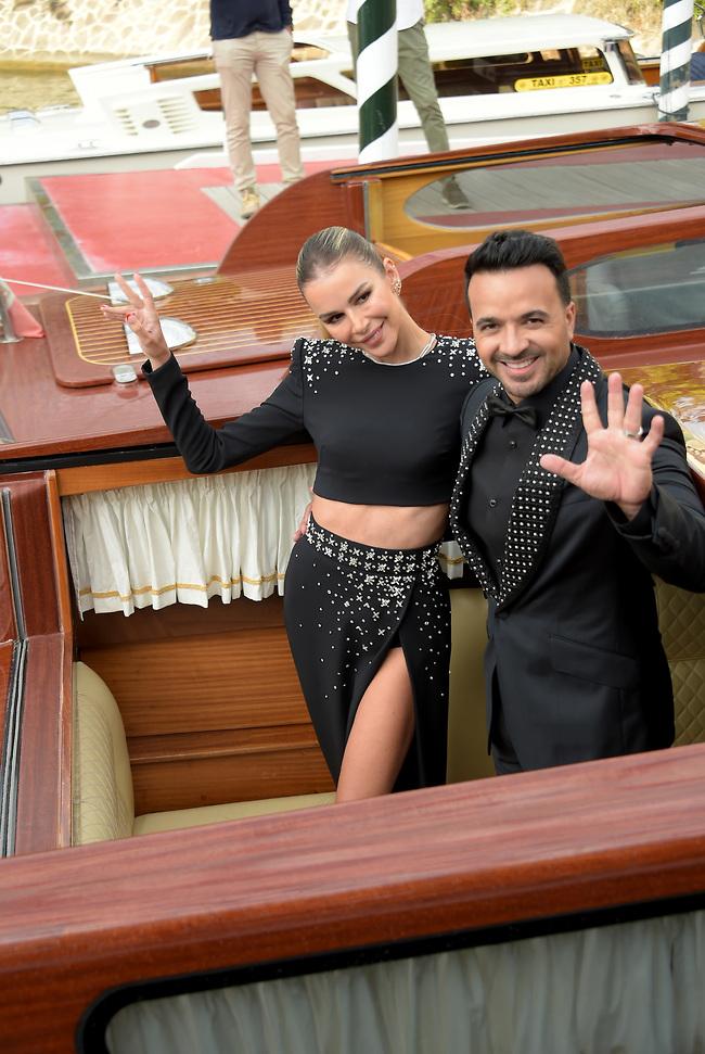 נהנו מהשיט. לואיס פונסי ואגואדה לופס (צילום: SplashNews)