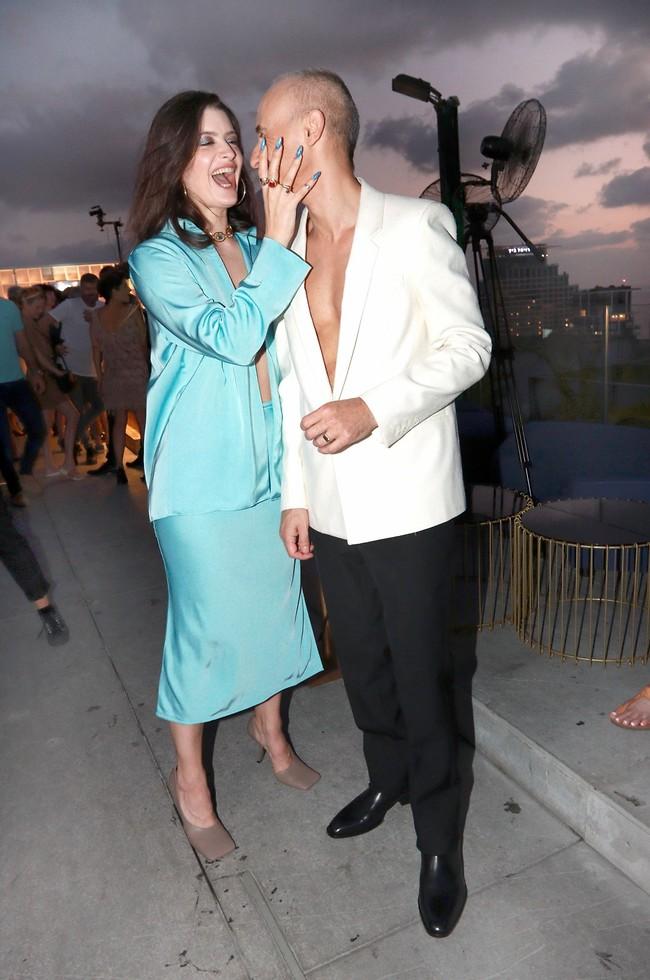 מגה שיק. אסף אמדורסקי ואשתו הדר ג'וזפין, בהופעה פומבית זוגית די נדירה במחוזותינו (צילום: ענת מוסברג)