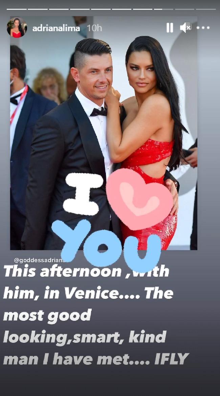 היא מחבבת אותו כנראה. אדריאנה לימה ובן זוגה החדש (צילום: אינסטגרם)
