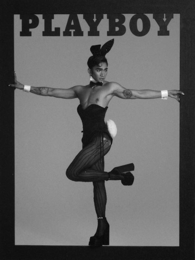 """ברטמן רוק על שער מגזין """"פלייבוי"""" (צילום מסך)"""