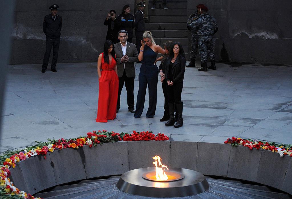 קרדשיאן בירבאן, באתר ההנצחה לרצח העם הארמני