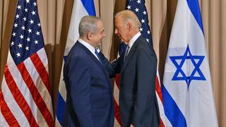 Benjamin Netanyahu and Joe Biden in 2016