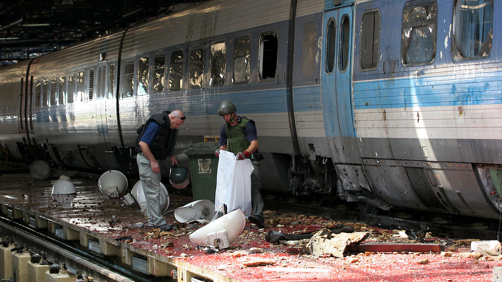 Aftermath of a 2006 Hezbollah rocket attack on Haifa that left eight Israelis dead